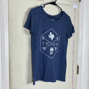 Texas tee shirt mens S cotton blue